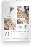 Saison-Wandkalender Obst & Gemüse - Weiß (A3/A4/A5 Hochformat)