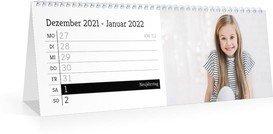 Tischkalender Blanko Notizen - Weiß (297x105 Wochen-Tischkalender)