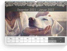 Wochen-Wandkalender Zierstück - Weiß (240x170 Wochen-Wandkalender Quer)