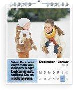 Wochen-Wandkalender Anregung - Weiß (140x170 Wochen-Wandkalender Hoch)