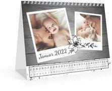 Monatskalender Schnappschuss - Weiß (170x140 Monats-Tischkalender)