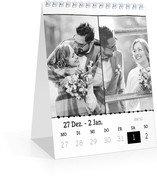 Wochen-Tischkalender Bordüre - Weiß (140 x 170 Wochen-Tischkalender)