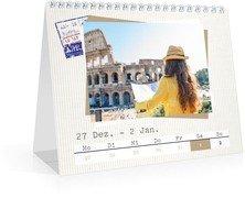 Wochen-Tischkalender Reisefieber - Weiß (170x140 Wochen-Tischkalender)