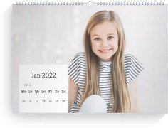 Wochenkalender Quadrat - Weiß (240x170 Wochen-Wandkalender Quer)