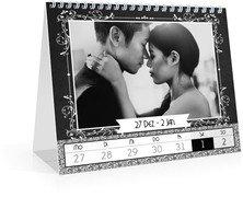 Wochen-Tischkalender Eingerahmt - Weiß (170x140 Wochen-Tischkalender)