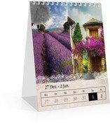 Wochen-Tischkalender Tintenklecks - Weiß (140 x 170 Wochen-Tischkalender)