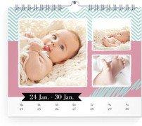 Wochen-Wandkalender Kunterbunt - Weiß (170x140 Wochen-Wandkalender Quer)