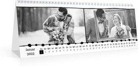 Monatskalender Bordüre - Weiß (297x105 Monats-Tischkalender)