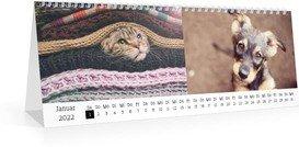 Tischkalender Blanko quer - Weiß (297x105 Monats-Tischkalender)