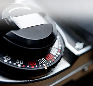 Kamera knopf eingestellt auf ISO 200