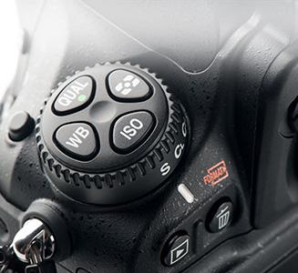 Rädchen an Kamera mit ISO und Weißabgleich