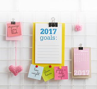 ausgefallener Design Kalender auf Gitterboard